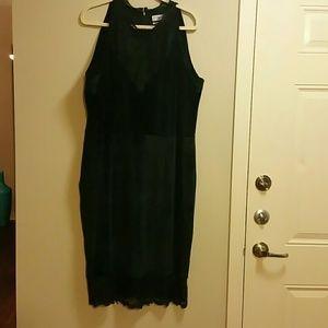 Dresses & Skirts - Velvet and lace dress